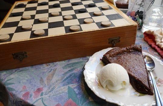 Chocolat et jeu de dames